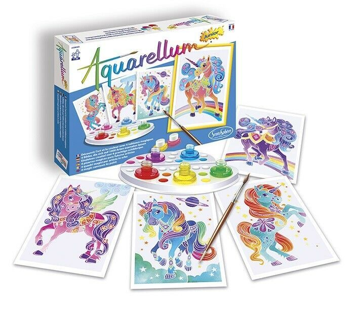 Aquarellum Junior Painting By Numbers Unicorns Kids Art Sets