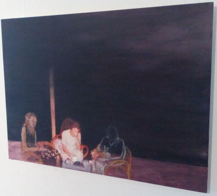 Setting the Scene, No Easy Chair, 2015 (acrylic on panel, 50 x 70 cm), by Sarah Edmondson, €280