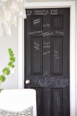 paint door with chalkboard black