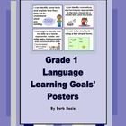 Grade 1 Language Learning Goals Posters for the Ontario Language Curriculum.  Reading, Writing, Oral Communication and Media are all included!  Thi...