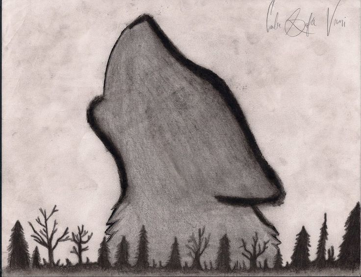 Howling Wolf Drawing by Cheshire-Kitteh.deviantart.com on @DeviantArt
