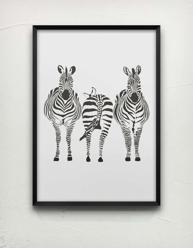 Zebra Screen Printed Poster  Zebras Poster by InspirationxCreation, $19.00