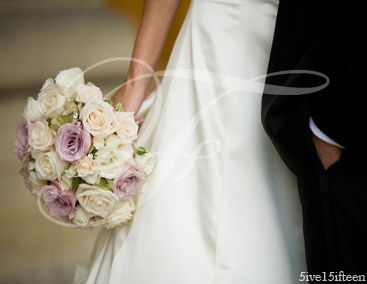 Off White And Purple Bouquet