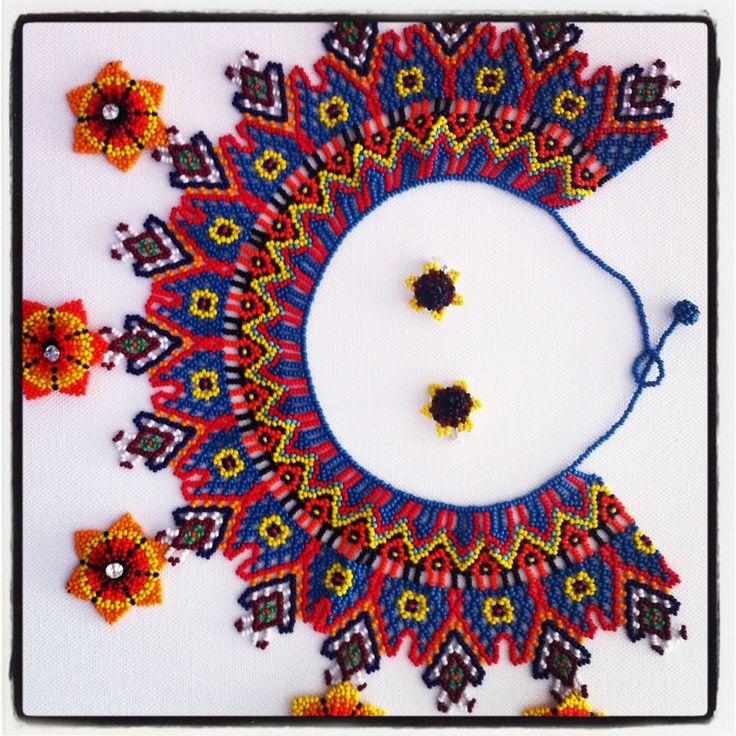 Collar tejido a mano, canutillos y swarovsky. #Necklace #Guajira