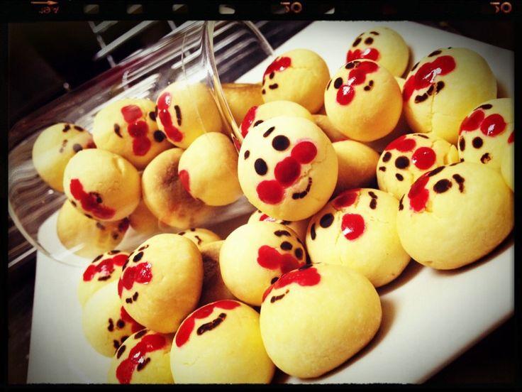 Luv Buddy's dish photo アンパンマンボーロ   http://snapdish.co #SnapDish #レシピ #クッキー #ハロウィン #こどもの日 #ビスケットの日(2月28日)