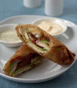 Avocado Club Egg Rolls From The California Pizza Kitchen Family Cookbook | Season with a packet of ranch mix
