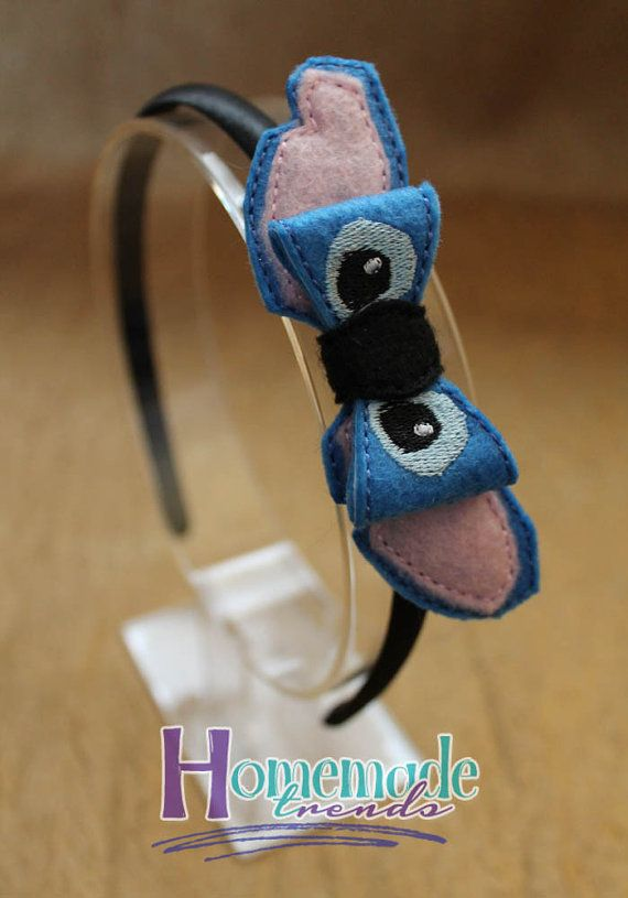 Blue Alien Headband-Alien 3D Felt Bow-Hawaiian Alien Hair Accessory-Alien 3D Hair Clip-Character Headband-Genetic Experiment Alien Hair Bow