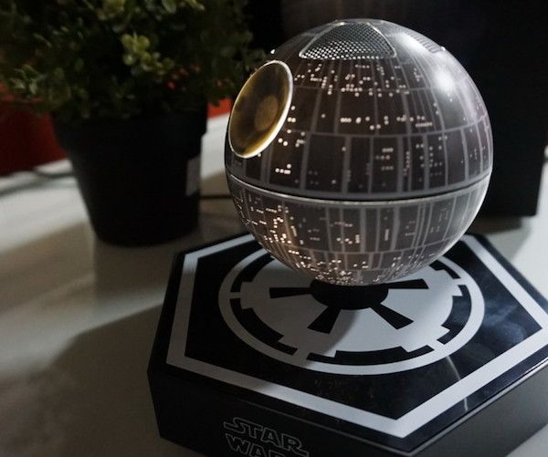Connecting to your device seamlessly via Bluetooth, the Death Star Levitating Speaker creates 360 degrees of sound as it twirls, bringing incredible levels of volume with rich bass to every corner of the room.