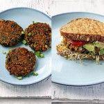Vegetarische burger van tempeh en zoete aardappel - Kookblog Lepeltje Liefde