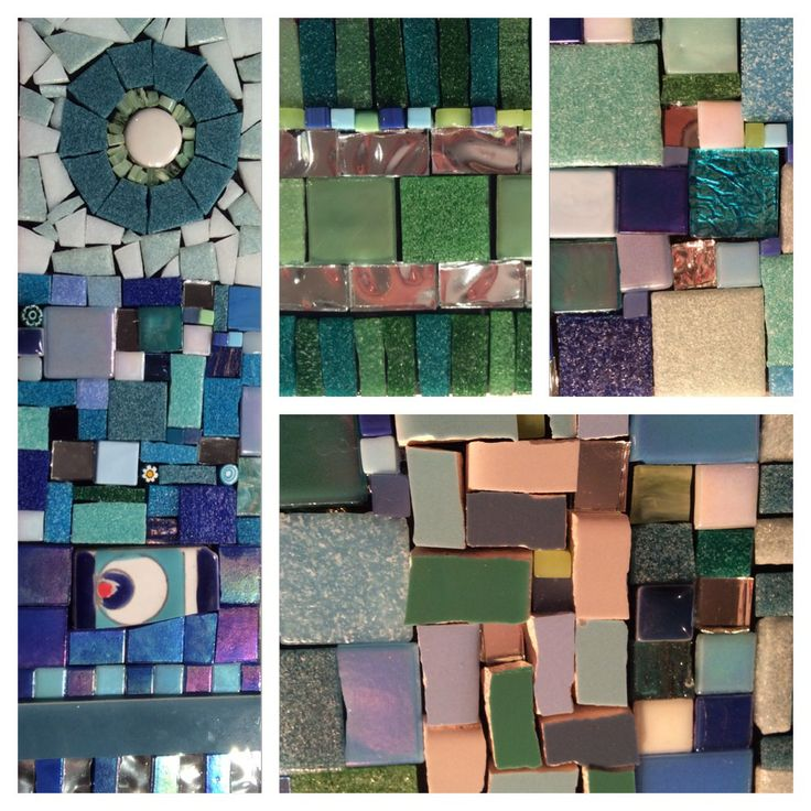 Detailed slices of my mirror mosaic. Follow the progress of this mosaic on my blog at www.goosehousedesigns.com.au
