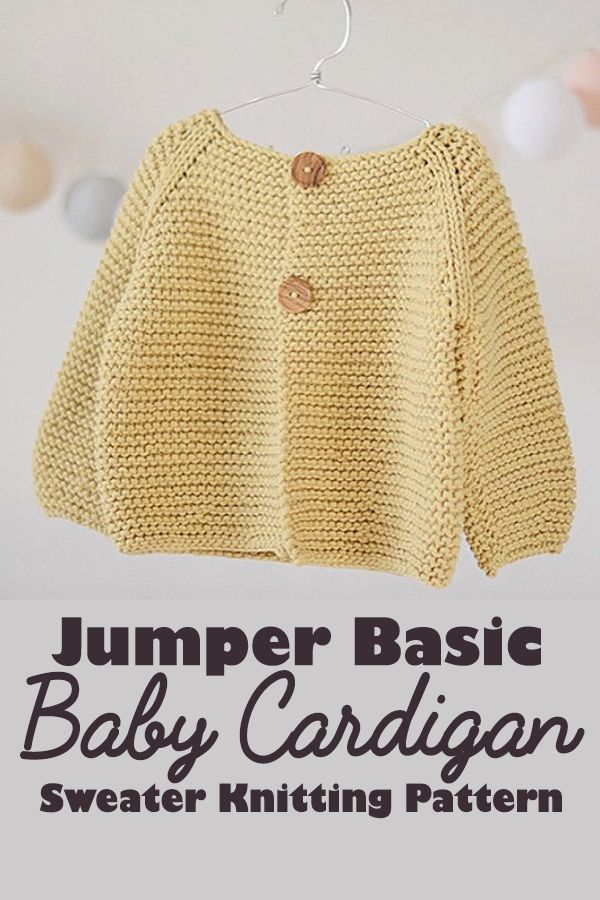 This is the basic baby-toddler cardigan knitting pattern using the soft American wool. It is perfect for boys and girls of any age. | knitting and crochet #Ad