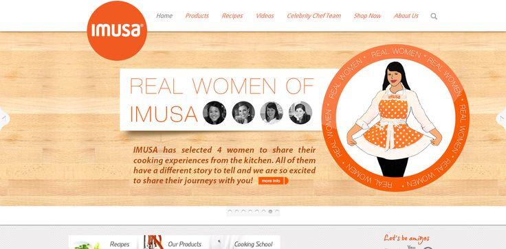Imusausa.com main page #pots #pans #webdesign #slider