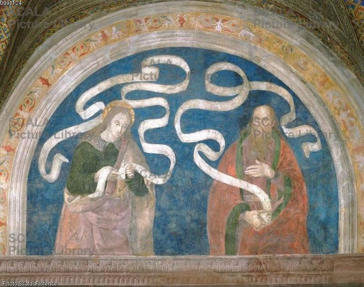 Pier Matteo d'Amelia (c. 1450-1503\8) - Simon and Malachi - affresco - 1492-1494 - Sala del Credo - Appartamento Borgia - Palazzo Apostolico della Città del Vaticano - Musei Vaticani