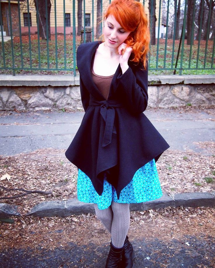 DIY dotted pleated skirt x.x