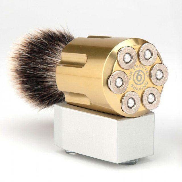 Six shooter saving brush.  Is the shaver a Romeo & Juliet style gun?  http://www.imfdb.org/images/0/02/RJ-02092.jpg