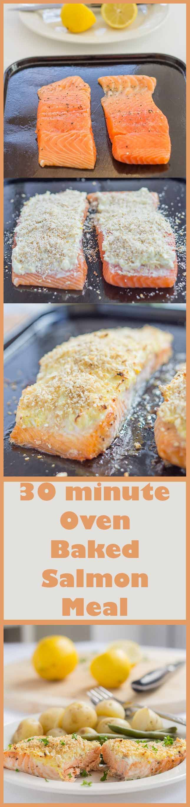 This oven baked salmon with cream cheese and oat bran crust recipe makes a super simple, delicious and protein packed meal you're just going to love. And all it takes is just 30 minutes!