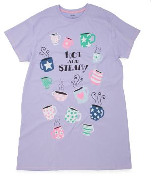 "Hatley Nature ""Hot and Steamy"" Women's Nightshirt in Lavender $29 - SHOP http://www.thepajamacompany.com/store/18318.html?category_id=10942"