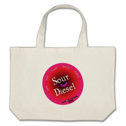 Sour Diesel Large Tote Bag - nursing nurse nurses medical diy cyo personalize gift idea