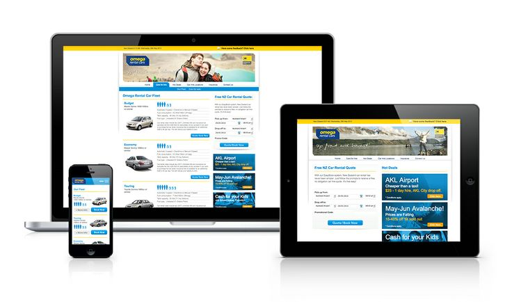 Omega Rental Cars Responsive Website Design by Onfire Design http://www.omegarentalcars.com/