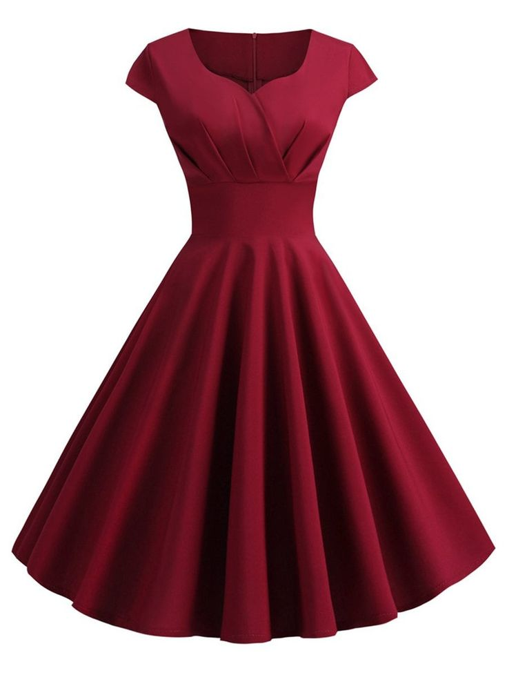 Plus Size Vintage Fit and Flare Dress