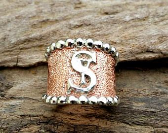 Copper Brand Ring, Cattle Brand Ring, Cigar Band Ring, Engraved Copper Ring, Western Bling, Mixed Metal Jewelry, Copper Jewelry, Cowgirl