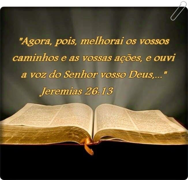 Palavra e Ação : Chamado ao arrependimento-- Jeremias 26