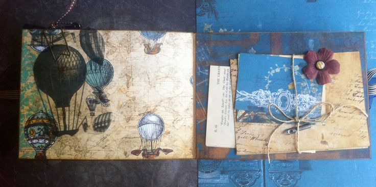 Scrapbooking: Vintage folding camera album--somewhere in time (letter page)