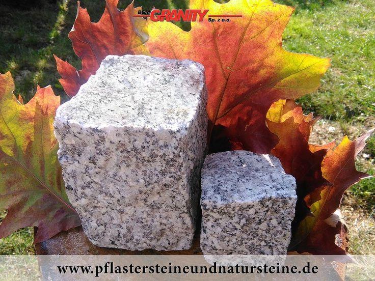 """B&M GRANITY-Granit-Pflastersteine aus Polen, gespalten, grau, Mittelkorn s.g """"Salz und Pfeffer"""". Es gibt noch andere Varianten von Granit-Pflastersteinen."""