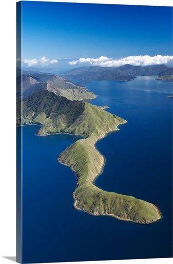Tawero Point and Pelorus Sound, Marlborough Sounds, South Island, New Zealand