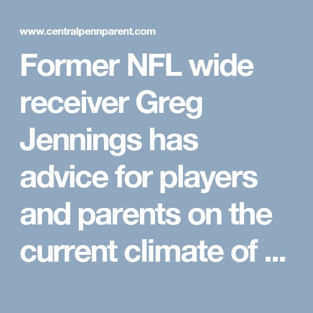 Former NFL wide receiver Greg Jennings has advice for players and parents on the current climate of sports specialization.