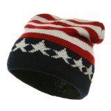 Amazon.com: LOCOMO Men Women Boy Girl US American Country Flag Patriotic Knit Beanie Crochet Rib Pom Pom Hat Cap Warm FAF023BLU Blue & Red: Clothing