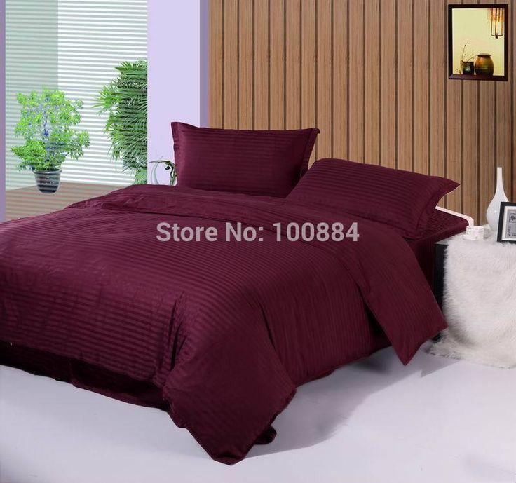 Хлопок пододеяльник двуспальная кровать, 100% хлопок отеля постельных принадлежностей, квартира/встроенная фиолетовый цвет bedsclothes, король размер постельных принадлежностей гостиницы