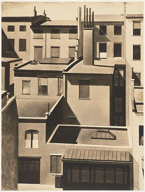 Charles Sheeler  (American, 1883–1965). New York - Washington Square, 1920s. The Metropolitan Museum of Art, New York.  Gift of Robert Lewis Williams, 1980 (1980.1109)