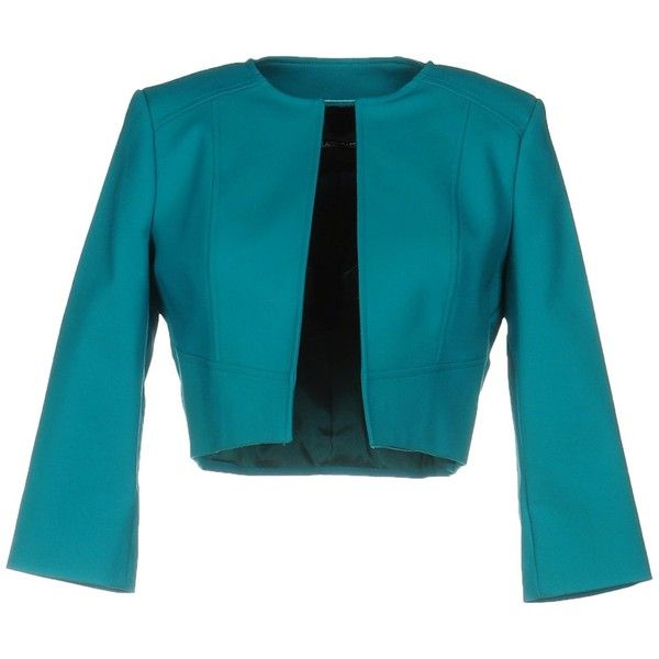 Flavio Castellani Blazer (895 BRL) ❤ liked on Polyvore featuring outerwear, jackets, blazers, turquoise, flavio castellani, blue blazer jacket, blue jackets, turquoise jacket and blazer jacket