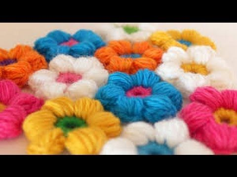 Crochet Puff Stitch Flowers together Flowers ~ Crocheted ...