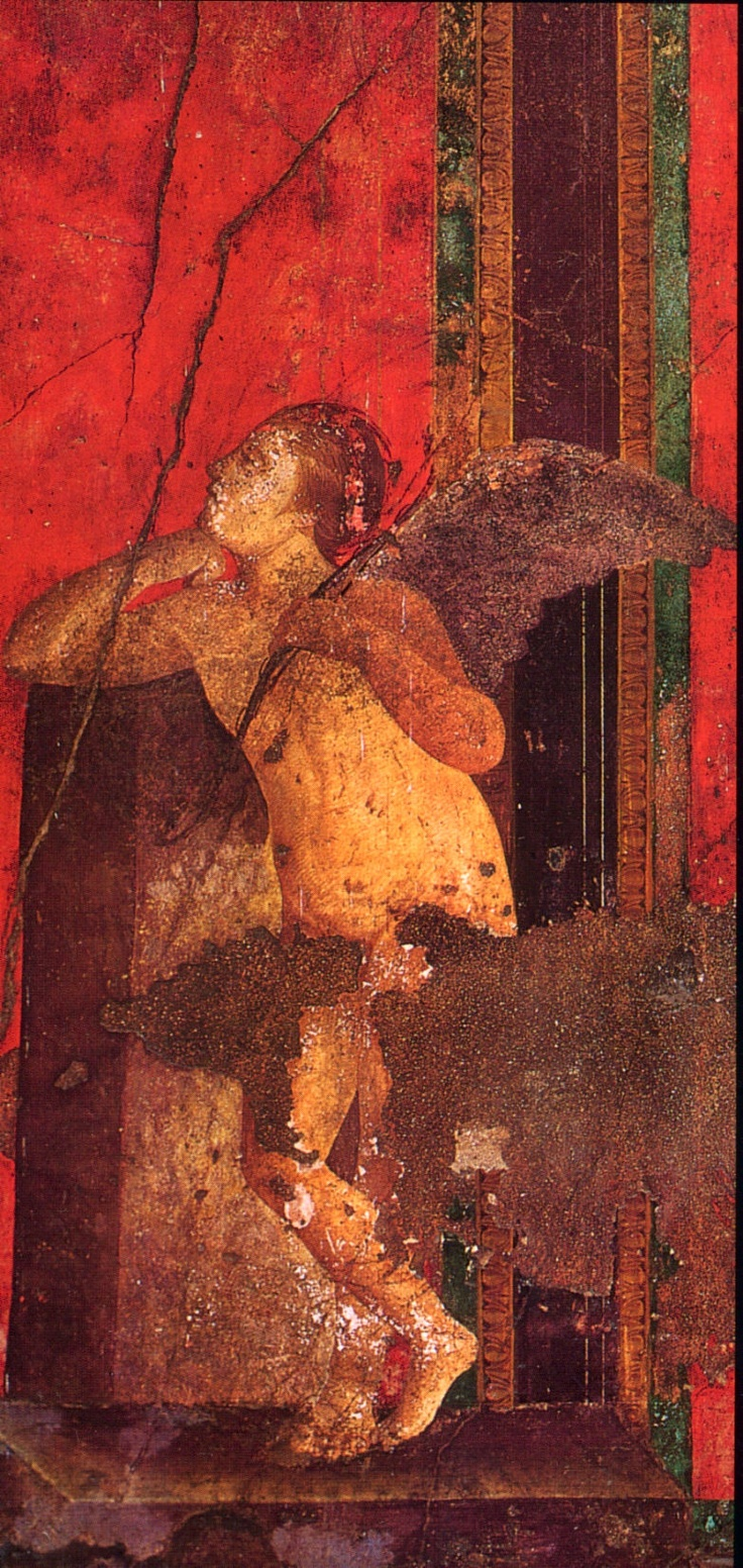 Ancientart ancient roman painting from the villa of the for Ancient mural villa