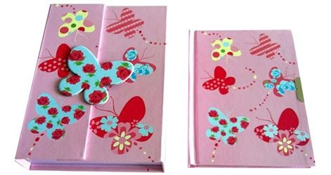 Bobble Art Diary - Butterfly    Price: $9.95    Super sweet Butterfly design diary by Bobble Art!    The perfect gift for girls - beautiful magnet closure with lockable A6 diary inside.