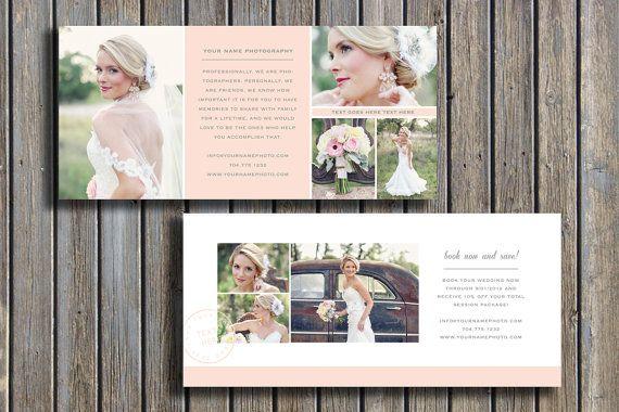 Instant download wedding photographer flyer design vista print 4x9 rack card photography for Vistaprint flyer templates