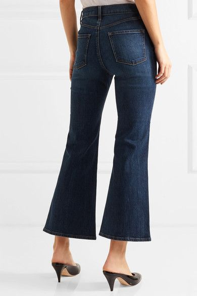 J Brand - Carolina Cropped High-rise Flared Jeans - Mid denim - 31