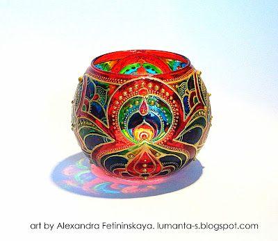 Art by Alexandra Fetininskaya - faceted glass