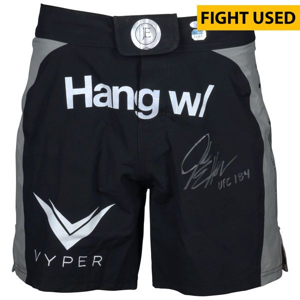 Jake Ellenberger Ultimate Fighting Championship Fanatics Authentic Autographed UFC 184 Fight-Worn Shorts with UFC 184 Inscription - Defeated Josh Koscheck via 2nd Round Submission - $999.99