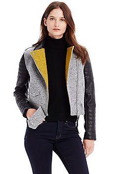 Armani Exchange - Wool Blend Moto Jacket