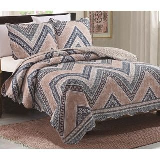 Shop for Juliet Blue Chevron 3 Piece Reversible Queen Size Quilt Set. Get free delivery at Overstock.com - Your Online Fashion Bedding Outlet Store! Get 5% in rewards with Club O! - 24174787