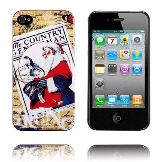 iArts (Joulupukki) iPhone 4/4S Suojakuori - http://lux-case.fi/iarts-joulupukki-iphone-4-4s-suojakuori.html