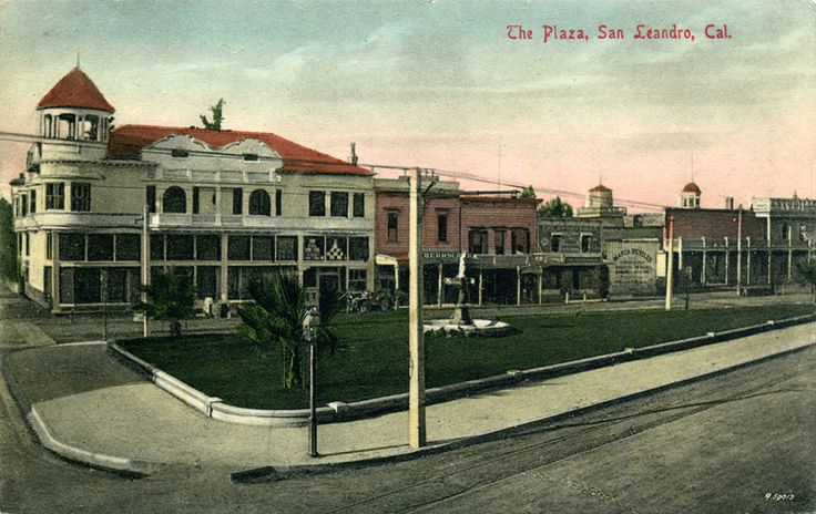 San Leandro CA old postcards The Plaza