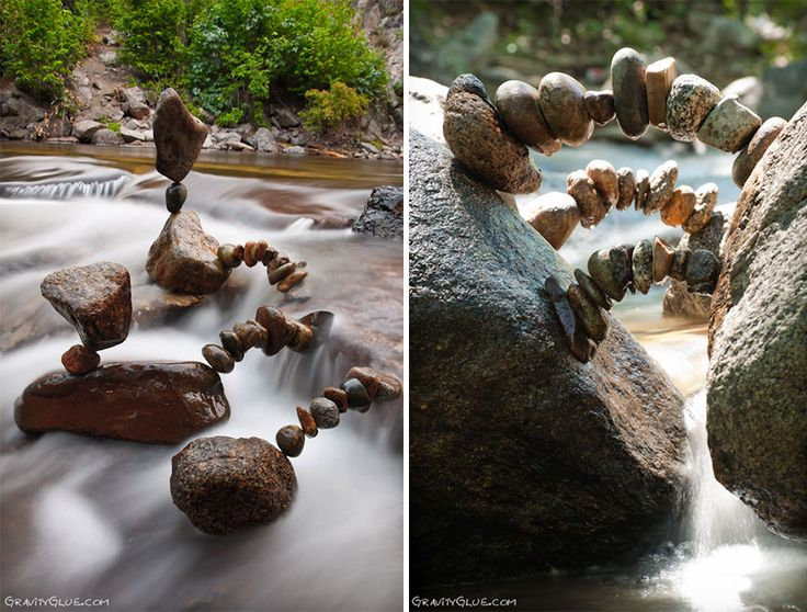 Artist Creates Impossible Towers Of Balanced Rocks To Meditate - We're having a hard time deciding whether Michael Grab is an artist or a magician, because he creates stunning structure from finely balanced rocks that seem to defy the law of physics.