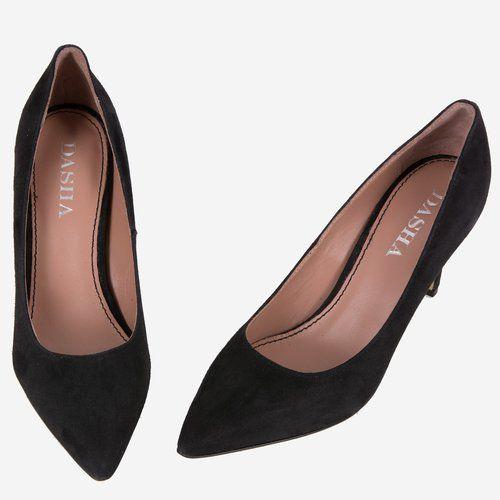 Pantofi Stiletto din piele naturala negri Taya