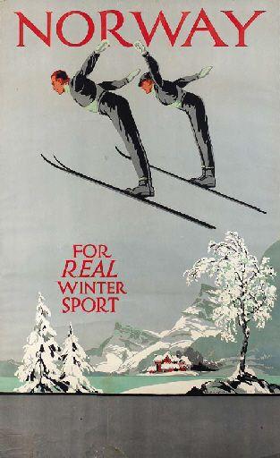 Norway for real winter sport - 1930's - (Freda Lingström) -