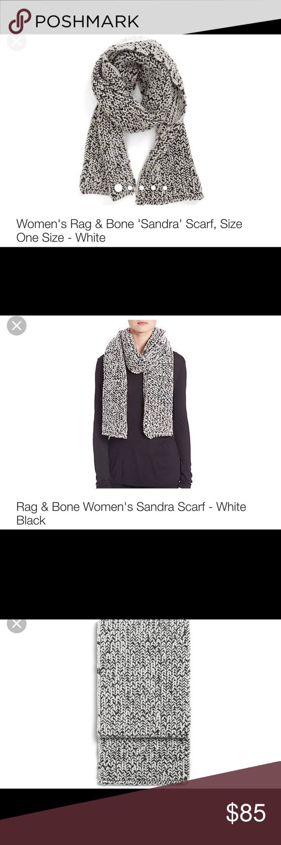 Rag and bone Sandra scarf Only worn 1x was a Christmas gift but I already have so many just like it.  Nice and heavy! rag & bone Accessories Scarves & Wraps
