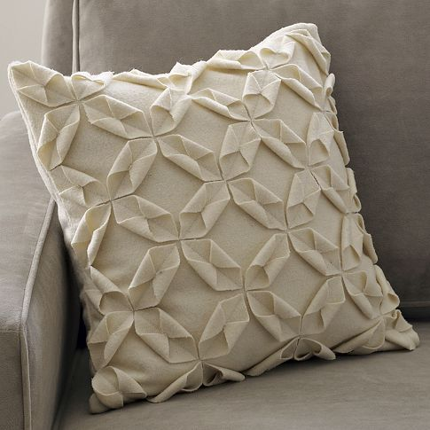 Okay, so I love this look.....thinking I can create it myself? These from West Elm are felt.  Love the single tone with texture!
